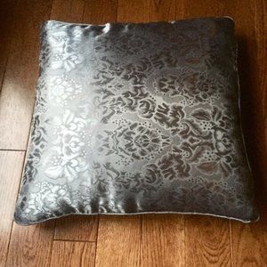 2 Throw Pillow Covers Damask Grey Gold Black Brown